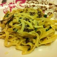 Talharim com cogumelos frescos - a la Jamie Oliver