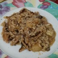 Risoto de shiitake com abacaxi
